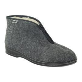 Grey Befado men's shoes warm slippers 100M047