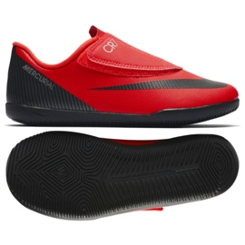 Indoor shoes Nike Mercurial Vapor 12 Club Ps (V) CR7 Ic Jr AJ3107-600 red red