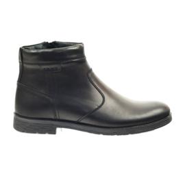 Riko booties men's shoes with zipper 825 black