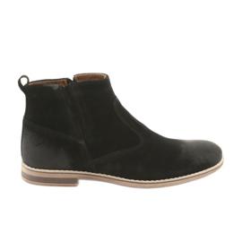 Riko Suede stiletto heel with a zipper black
