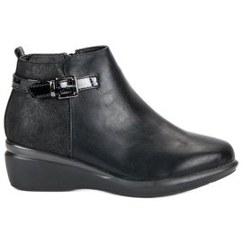 Kylie Comfortable Black Ankle Boots