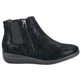 Kylie Black Ankle Boots