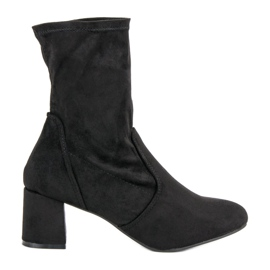Kylie Slip-on Suede Boots black