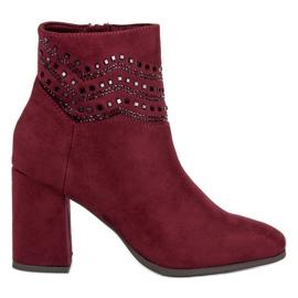 Kylie Elegant Burgundy Boots