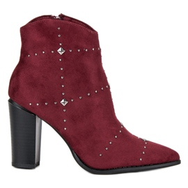 Kylie Suede Bordeaux Booties