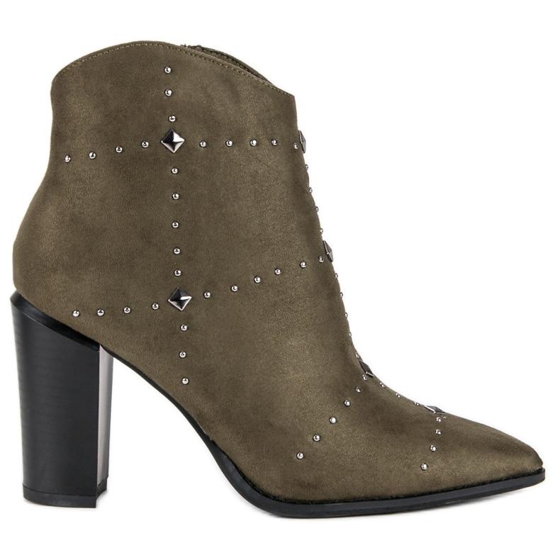Kylie Suede Khaki boots