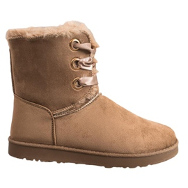 Kylie brown Tied Snow Boots