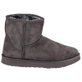 Kylie grey Sliding snow boots