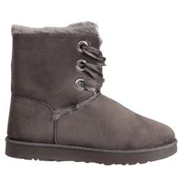 Kylie grey Tied Snow Boots