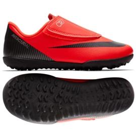 Football shoes Nike Vapor 12 PS CR7 TF JR AJ3108-600 orange
