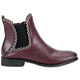 Filippo Casual Jodhpur boots red