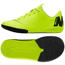 Indoor shoes Nike Mercurial VaporX 12 Academy Ps Ic Jr AH7352-701 yellow yellow