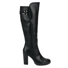 Cm Paris black Classic high heels