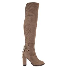 Cm Paris brown Suede Boots On A Bar