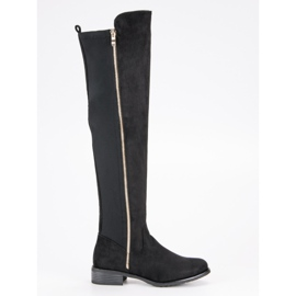 Seastar Black Boots With A Slider