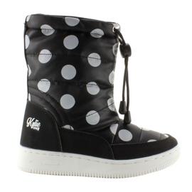 Black Children's orthalion knee-high boots k1646109 Negro
