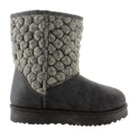 Grey Baby emuses with felt uppers k1647405 Gris