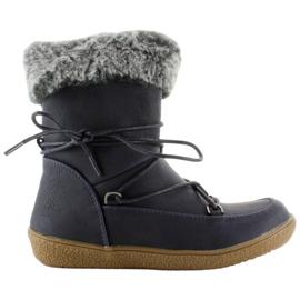Navy Half boots for children with fur K1647201 Marino