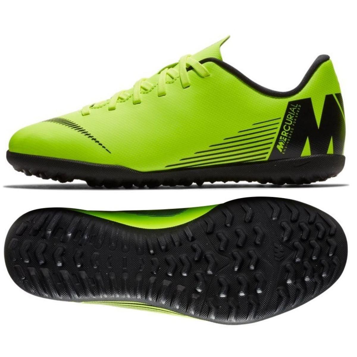 protestante Cuidar bofetada  Nike Mercurial Vapor X 12 Club Tf Jr AH7355-701 Football Shoes green green  - ButyModne.pl