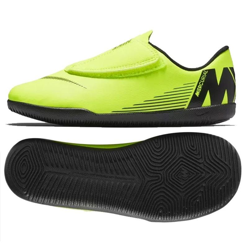 Indoor shoes Nike Mercurial Vapor 12 Club PS (V) Ic Jr AH7356-701 green green