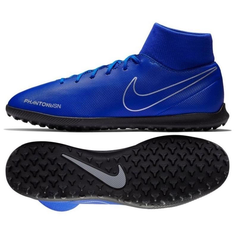 Football shoes Nike Phantom Vsn Club Df Tf M AO3273-400 blue multicolored