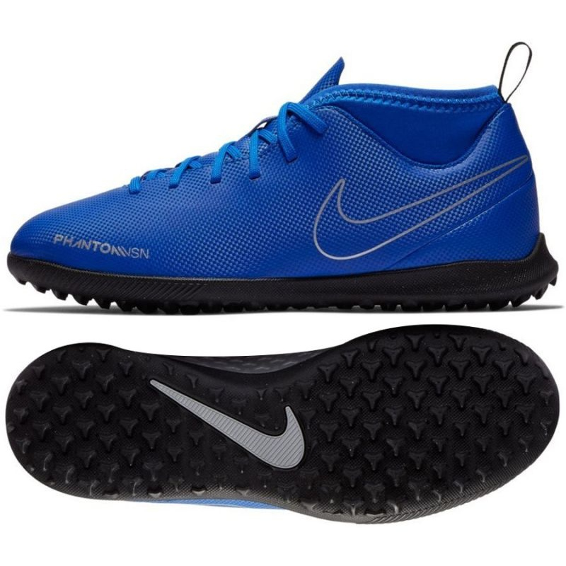 Excesivo Álbum de graduación Antagonismo  Football shoes Nike Phantom Vsn Club Df Tf Jr AO3294-400 blue multicolored  - ButyModne.pl