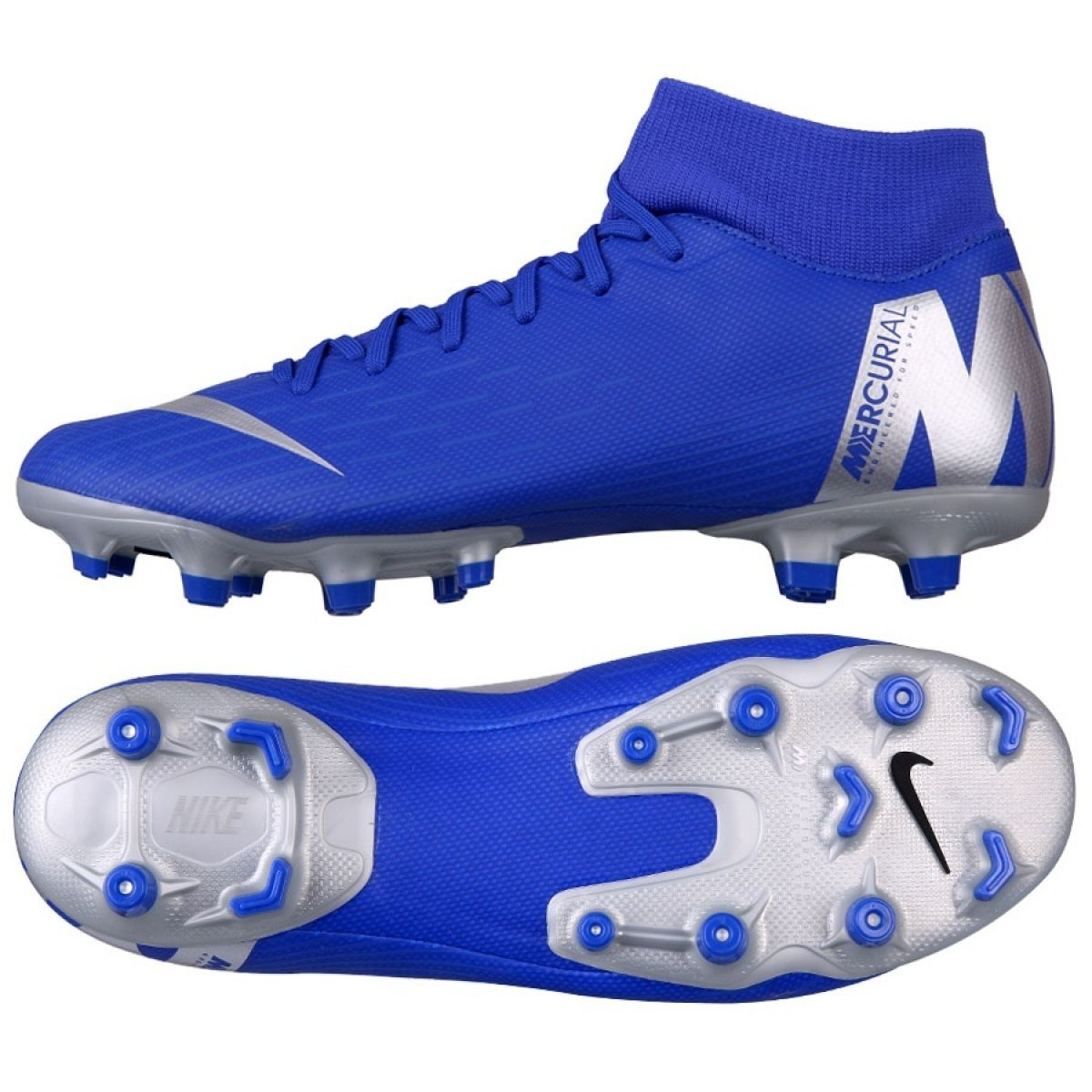 Resistente trimestre Posicionar  Nike Mercurial Superfly 6 Academy FG / MG M AH7362-400 football shoes blue  multicolored - ButyModne.pl