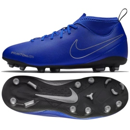 cráter vacío Advertencia  Nike Phantom Vsn Club Df Fg Mg Jr AO3288-400 football shoes blue  multicolored - ButyModne.pl