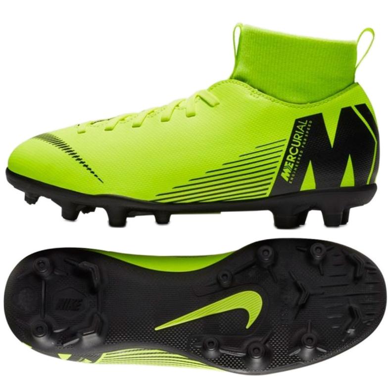 Football shoes Nike Mercurial Superfly 6 Club Mg Jr AH7339-701 green green