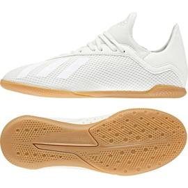 Adidas X Tango 18.3 In Jr Football Boots DB2427 white white
