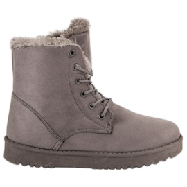 Forever Folie grey Warm Suede Shoes
