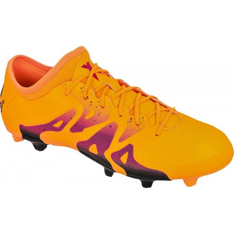 Football shoes adidas X 15.2 FG / AG M S74672 orange orange