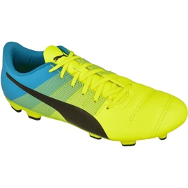 Football boots Puma evoPOWER 4.3 Fg M 10353601 yellow yellow