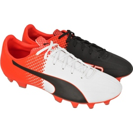 Football boots Puma evoSPEED 4.5 Tricks Fg M 10359203 white, black, red red