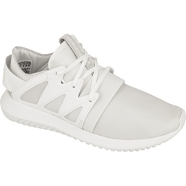 White Adidas Originals Tubular Viral shoes in S75583