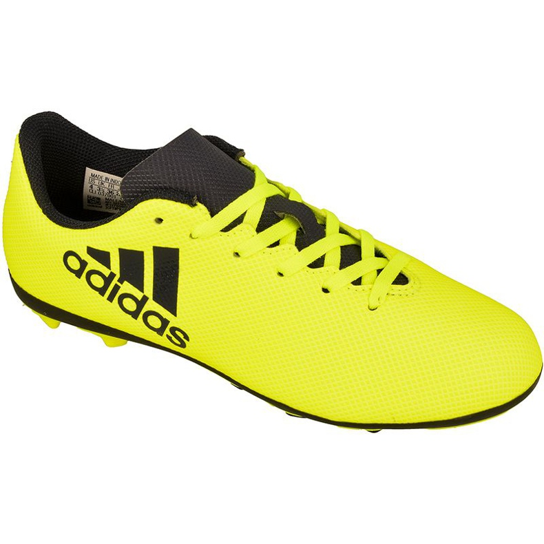 Football shoes adidas X 17.4 FxG Jr S82404 yellow