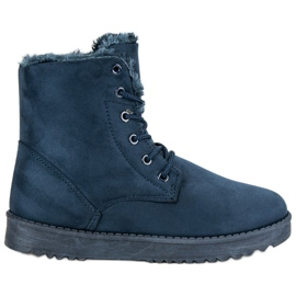 Forever Folie blue Warm Suede Shoes