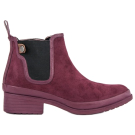 Kylie Booties Jodhpur boots red