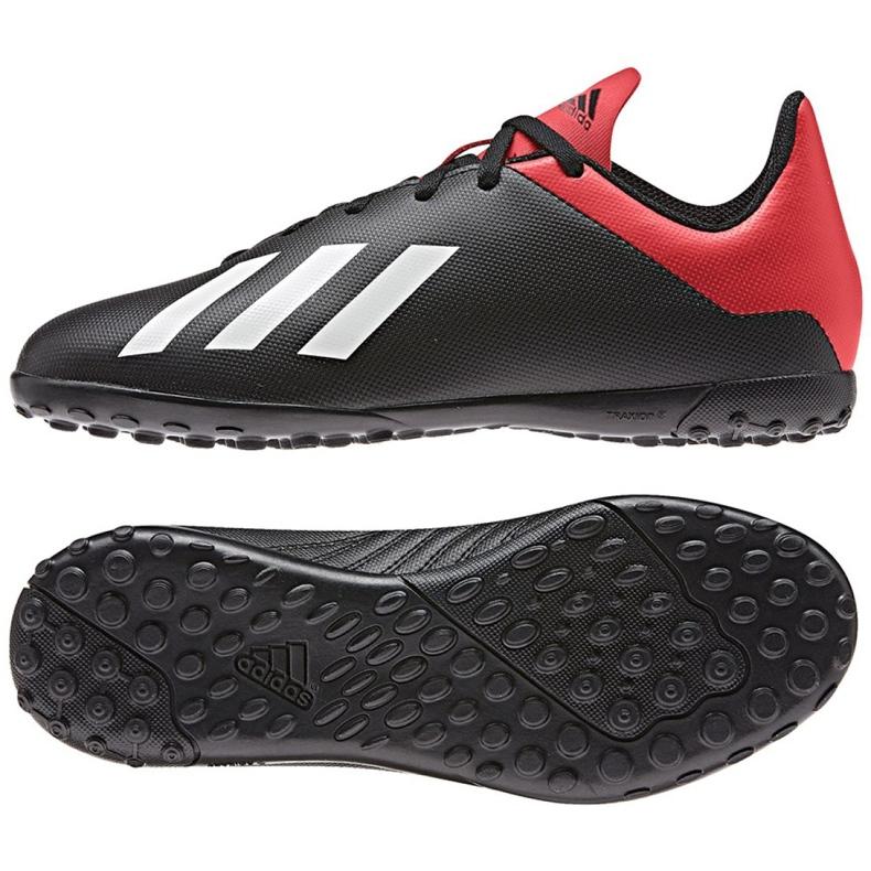 Football shoes adidas X 18.4 Tf Jr BB9416 black black
