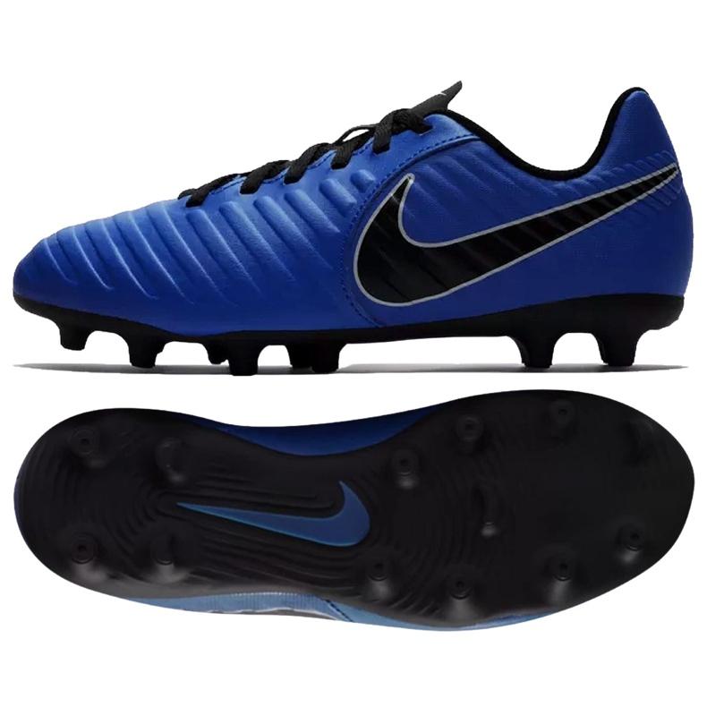Football shoes Nike Jnr Tiempo Legend 7 Club Mg Jr AO2300-400 blue navy, blue