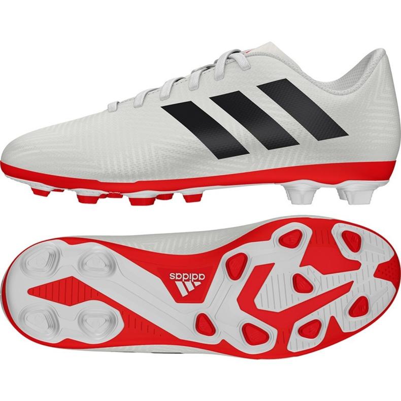 Football shoes adidas Nemeziz 18.4 FxG Jr CM8510 white multicolored