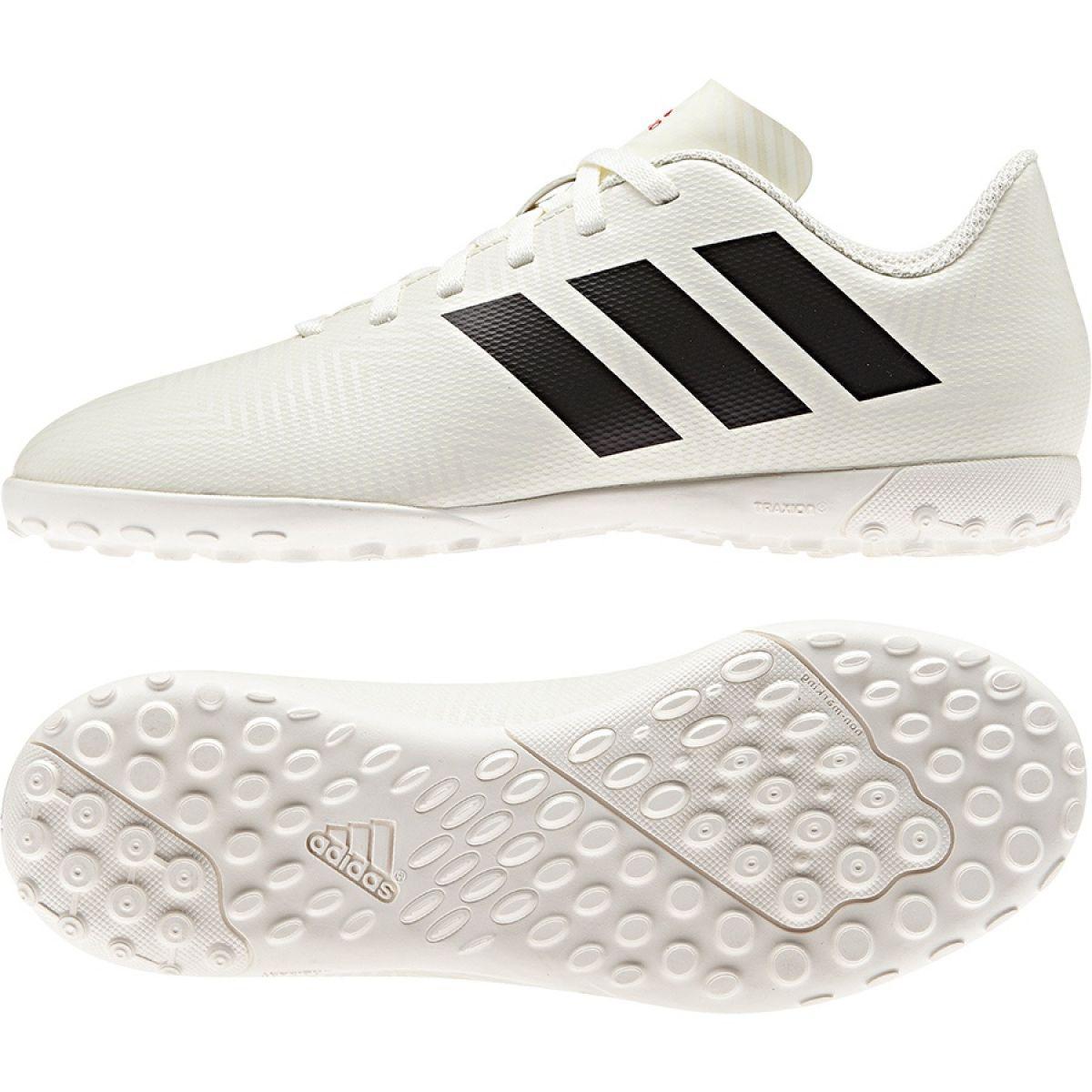Mariner Surname Plow  Football boots adidas Nemeziz 18.4 Tf Jr CM8523 white multicolored -  ButyModne.pl