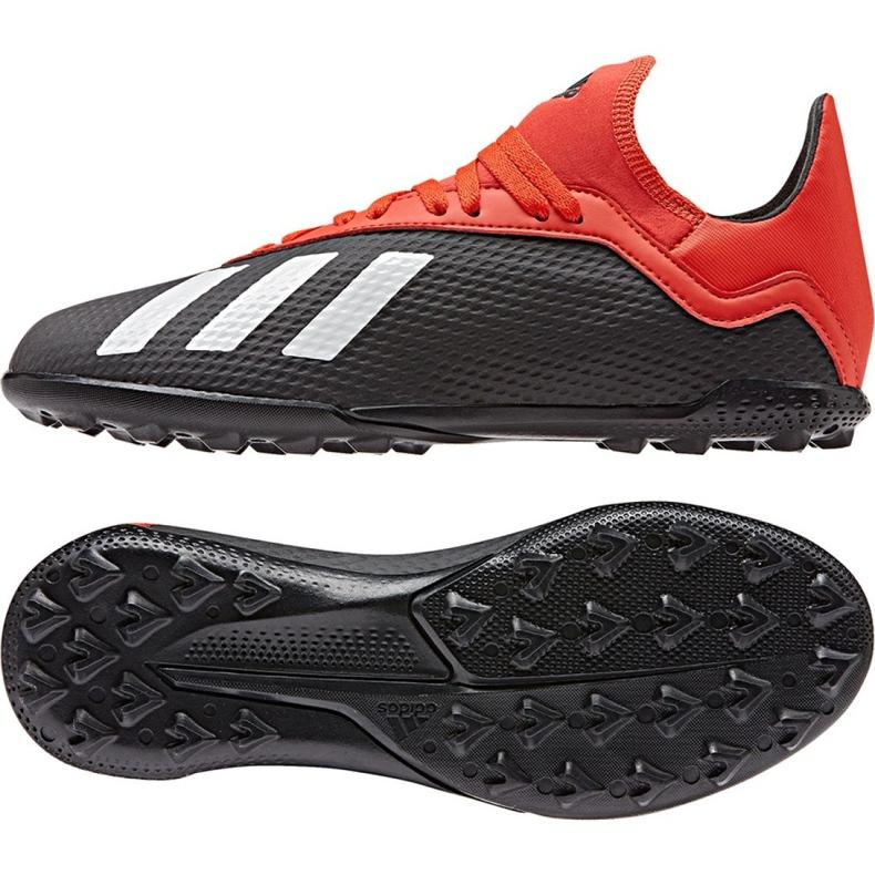 Football shoes adidas X 18.3 Tf Jr BB9402 black black
