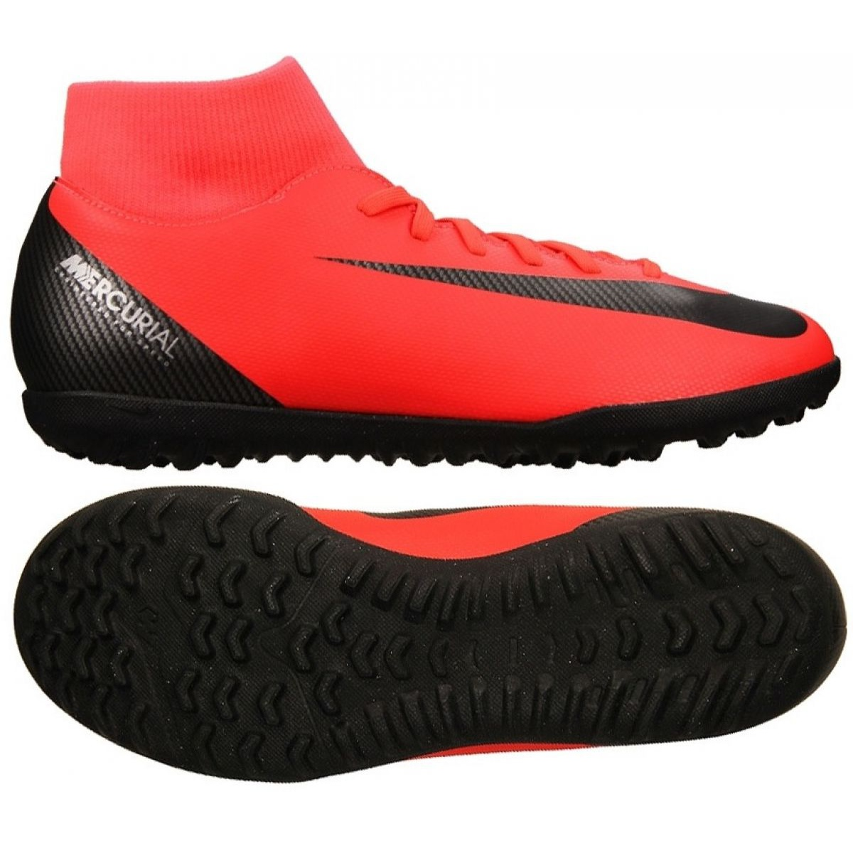 best quality wholesale sales on feet images of Nike Mercurial Superfly X 6 Club CR7 Tf M AJ3570-600 Football Shoes red red