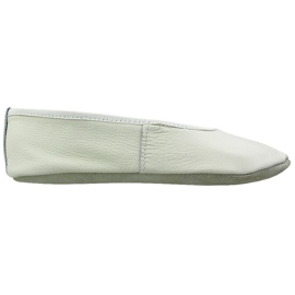 White Gymnastic ballet shoes