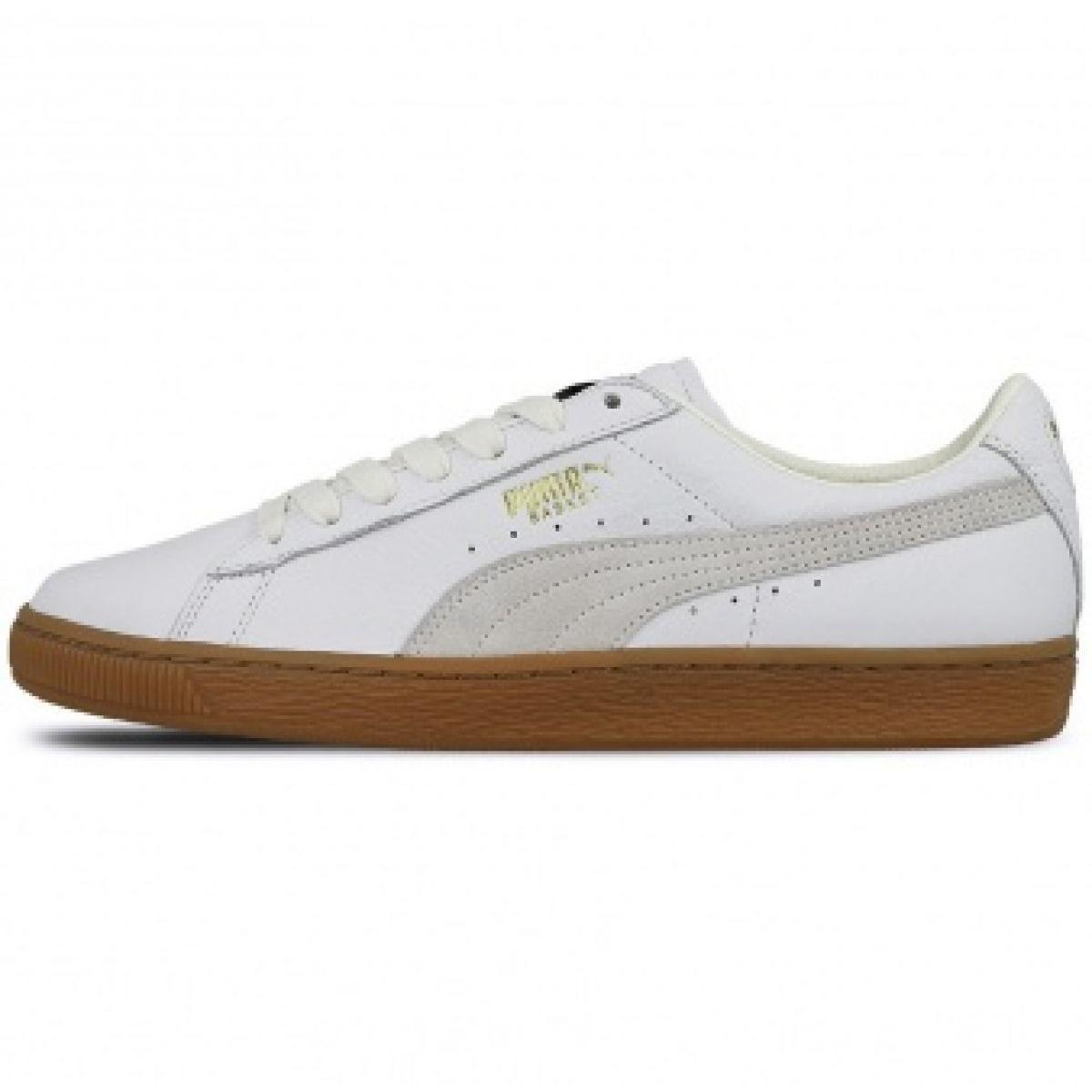 Consistente inundar Pedir prestado  Puma Basket Classic Gum Deluxe M 365366 01 shoes white - ButyModne.pl