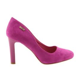 Sergio Leone pink Suede pumps 1457