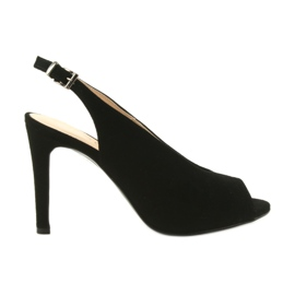 Edeo black Suede sandals on a pin