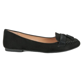 Small Swan Loafers With Fringes black