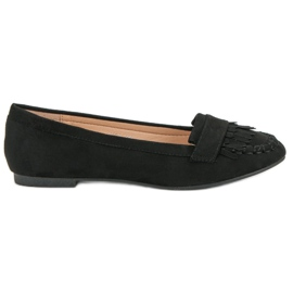 Small Swan Classic Black Loafers